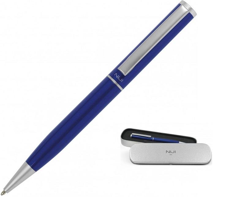 PENNA REGALO NIJI START IN METALLO BLU