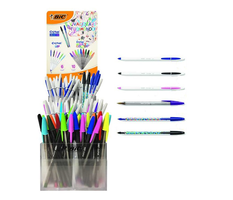 EXPO DA BANCO PENNE BIC CRISTAL COLLECTION-UP-MULTICOLOR