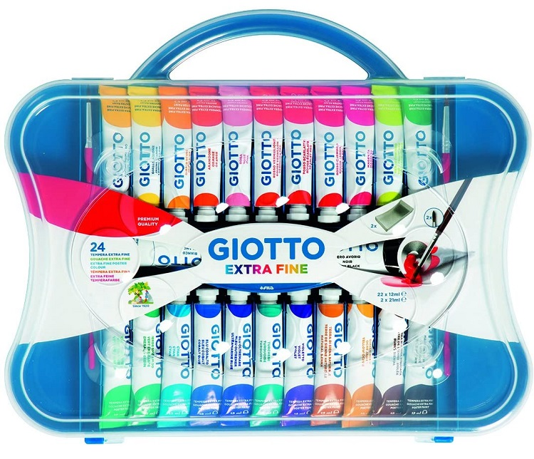 TEMPERA GIOTTO DA 24 TUBO 4-12ML