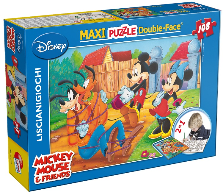 LISCIANI PUZZLE DF SUPERMAXI 108 MICKEY MOUSE MY FRIENDS 31740 ETA' DA 4 ANNI