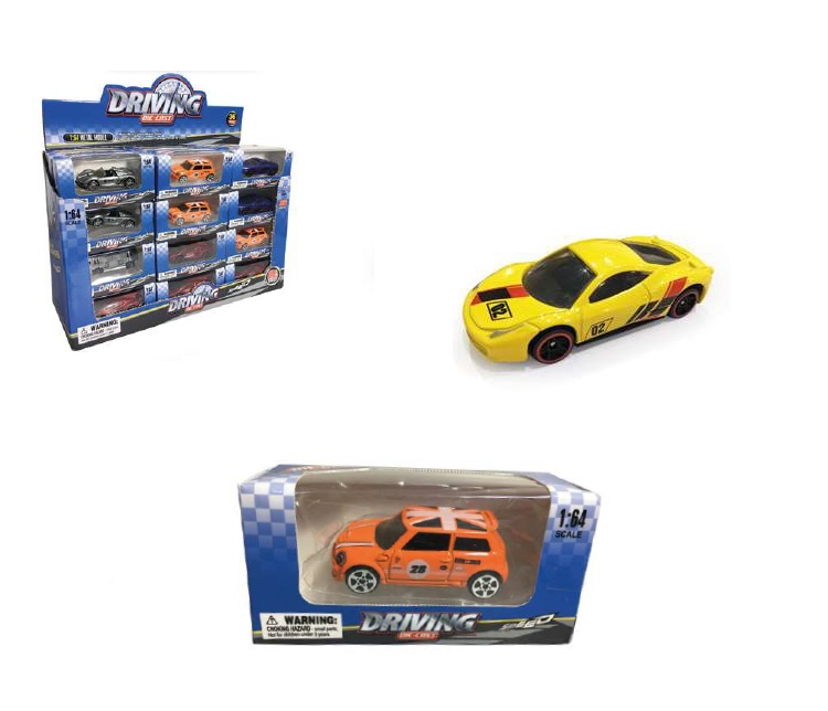 MACCHININE METALLO RACING 95456 ASSORTITE SCALA 1:64