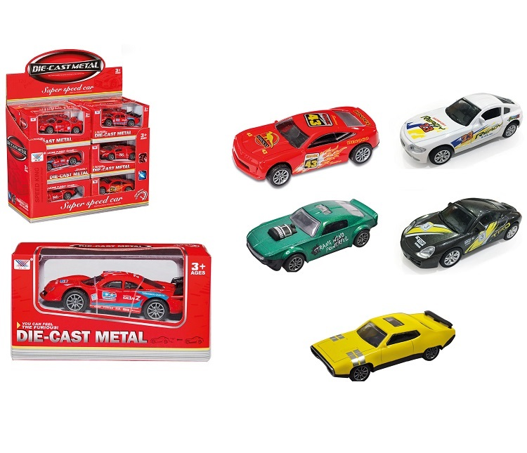 MACCHININE RED RACING CAR 095463 4 MODELLI RETROCARICA 1:43