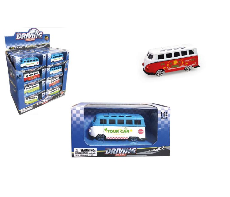 BUS COLOR METALLO 95452 ASSORTITE SCALA 1:64