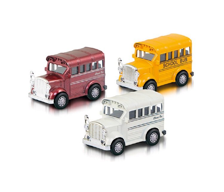 SCHOOL BUS IN METALLLO SCALA 1:36