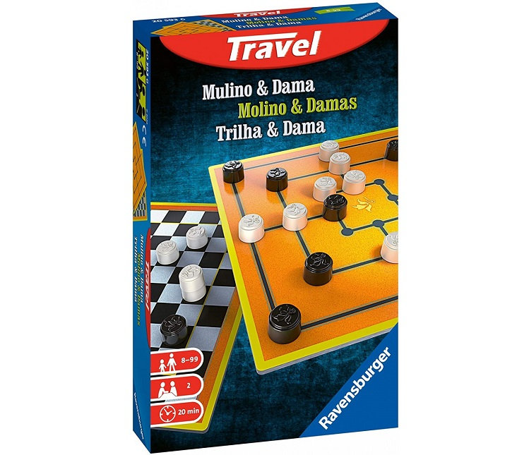 RAVENSBURGER TRAVEL GAME MULINO E DAMA